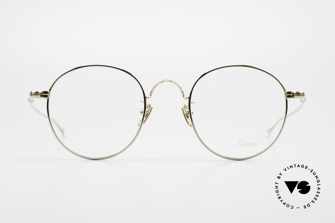Lunor V 111 Stilvolle Pantobrille Vergoldet, LUNOR = ehrliches Handwerk mit Liebe zum Detail, Passend für Herren