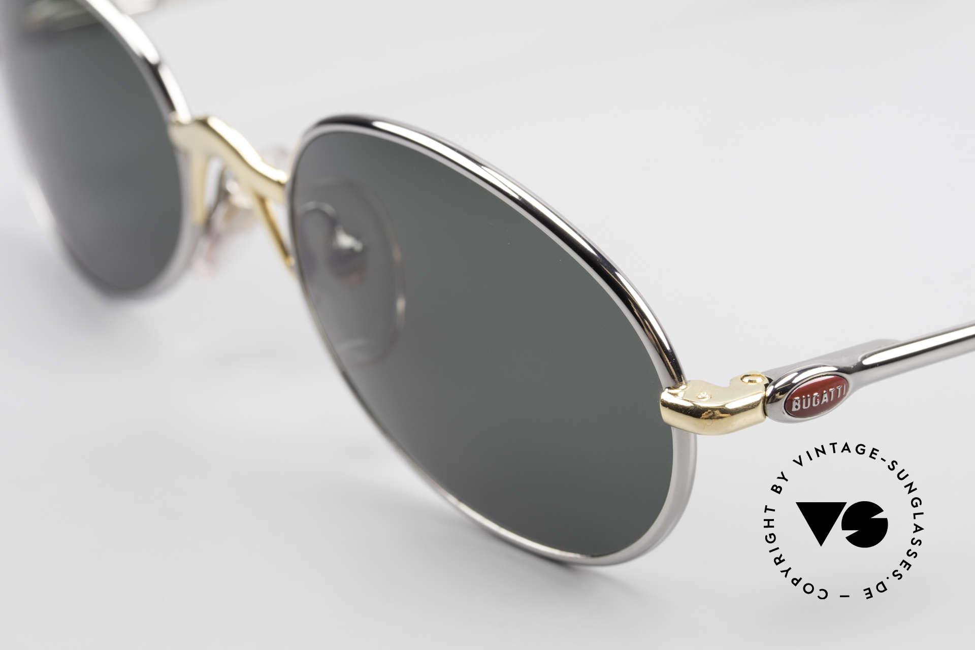Bugatti 22126 Original 90er Sonnenbrille, hoher Komfort u. Passform durch Federgelenke, Passend für Herren