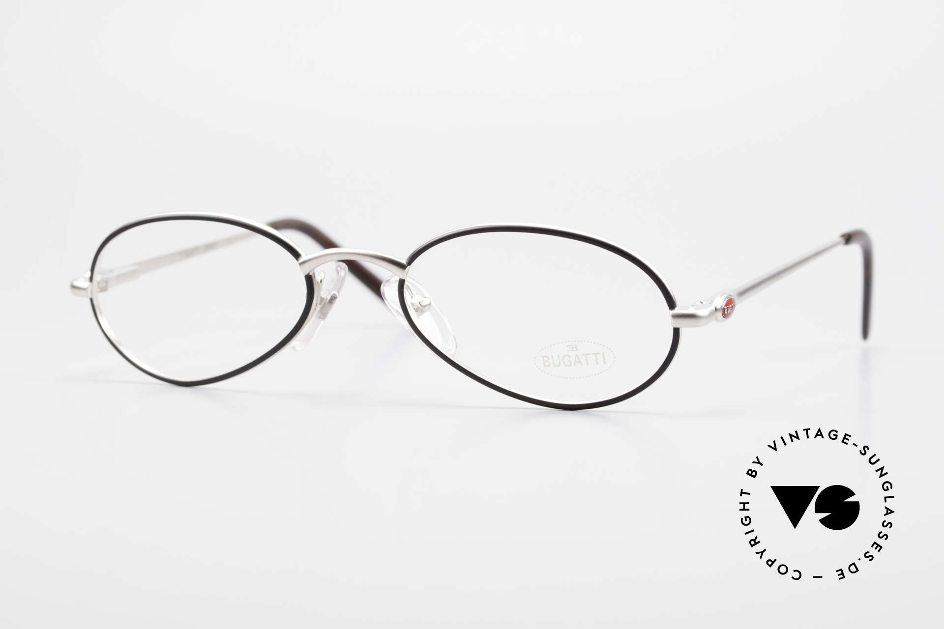 Bugatti 22431 Kleine 90er Vintage Brille, sehr elegantes BUGATTI vintage Brillengestell, Passend für Herren und Damen