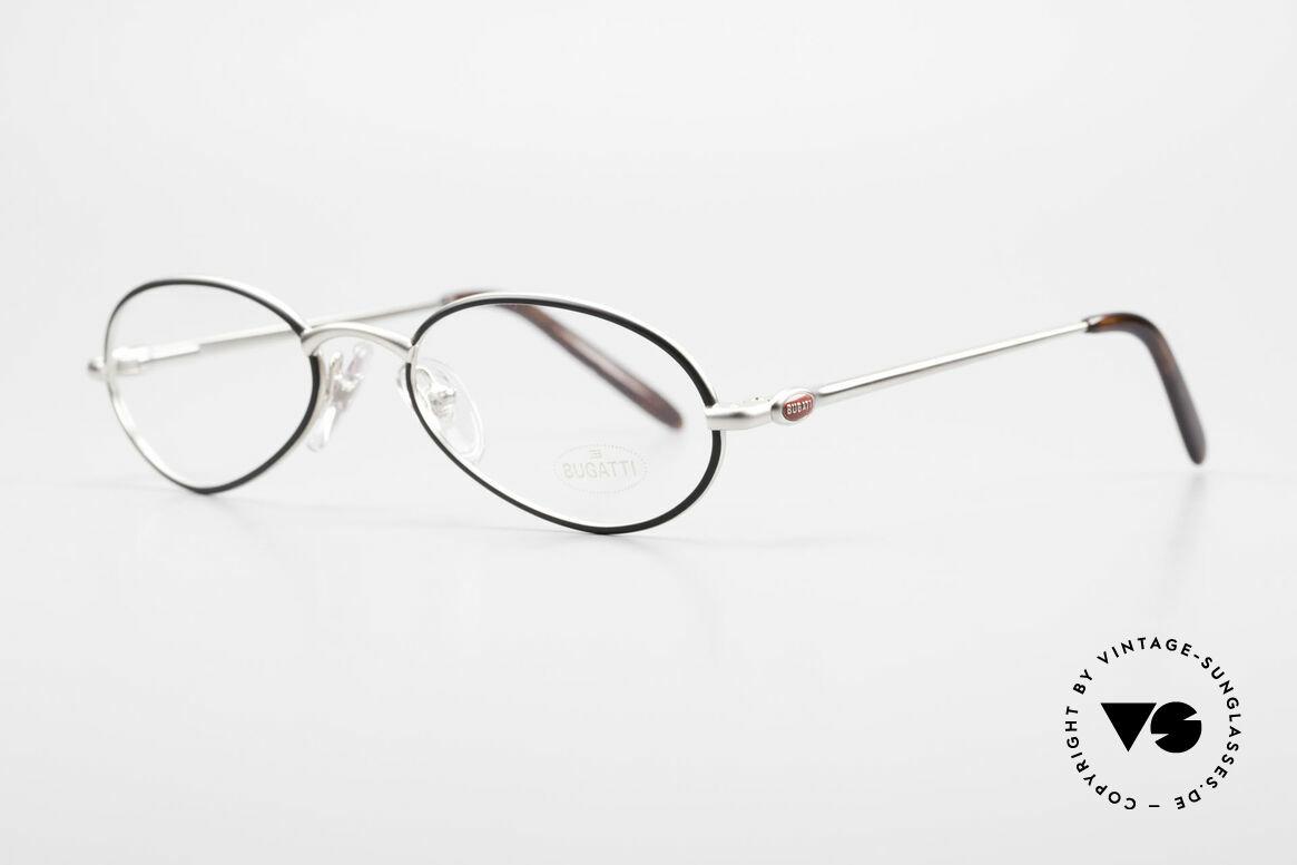 Bugatti 22431 Kleine 90er Vintage Brille, beste Materialien in erstklassiger Verarbeitung, Passend für Herren und Damen