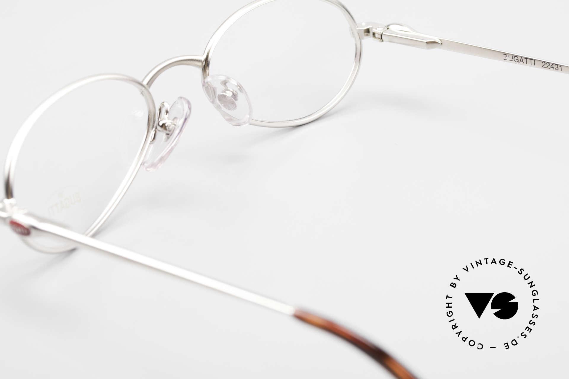 Bugatti 22431 Kleine 90er Vintage Brille, KEINE Retrobrille, sondern ein altes ORIGINAL, Passend für Herren und Damen