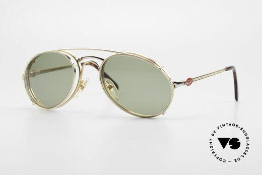 Bugatti 03308 80er Brille mit Sonnen Clip Details