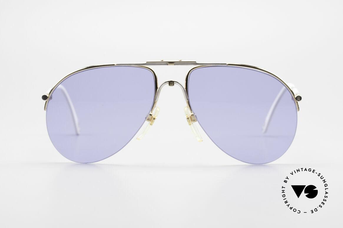 Aigner EA2 Echt 80er Vintage Sonnenbrille, nobel modifizierte Pilotenform im eleganten Farbton, Passend für Herren und Damen