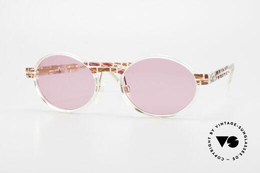 Cazal 510 Rosarote Vintage Brille Oval Details