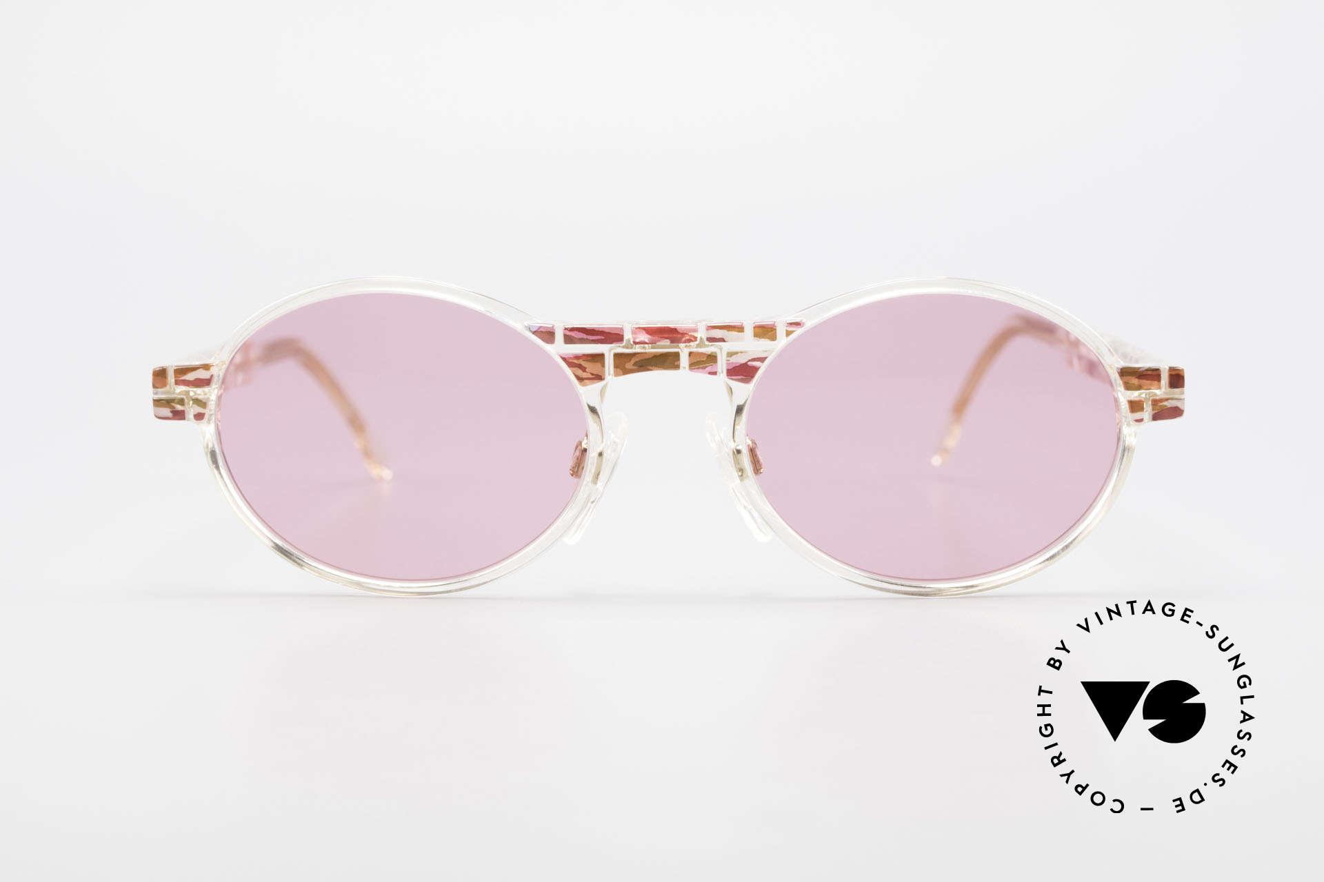Cazal 510 Rosarote Vintage Brille Oval, Mitte der 90er Jahre nur als Kleinstserie produziert, Passend für Damen