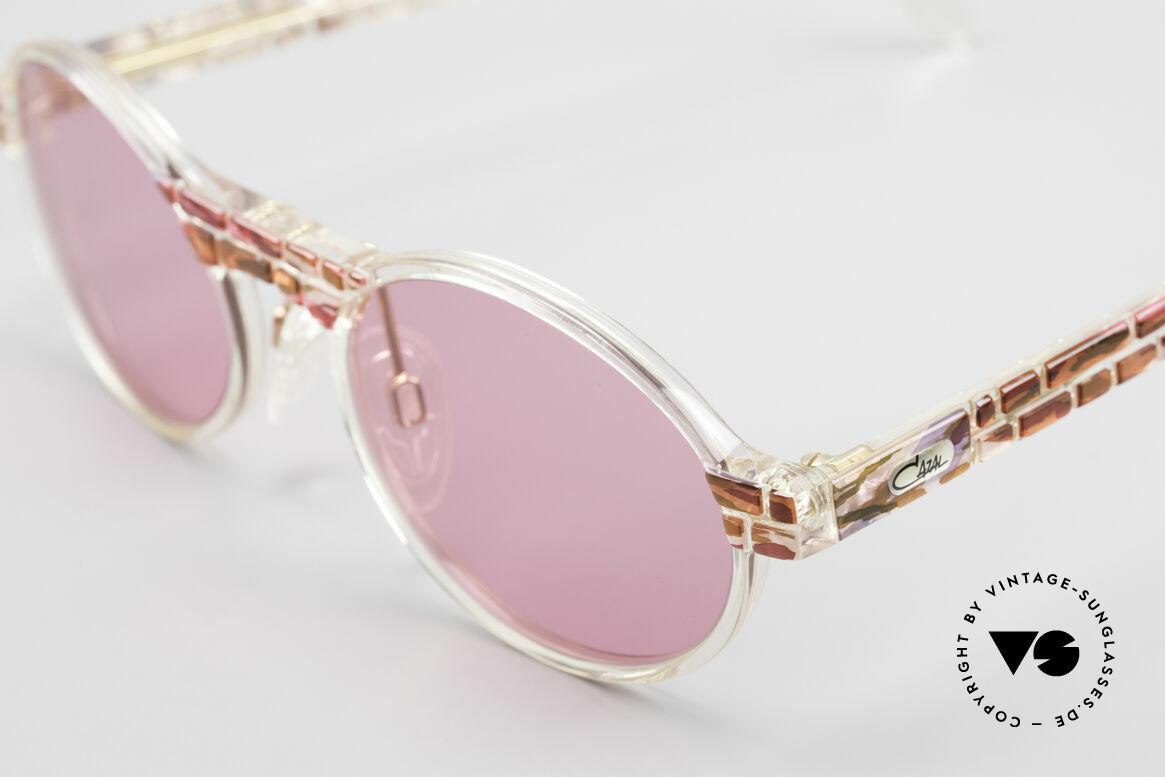 Cazal 510 Rosarote Vintage Brille Oval, tolle Kombination aus Form, Farbe und Materialien, Passend für Damen
