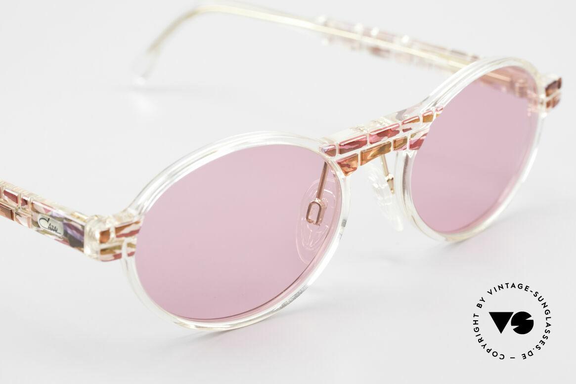 Cazal 510 Rosarote Vintage Brille Oval, pink, um die Welt durch die rosarote Brille zu sehen, Passend für Damen
