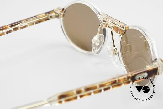 Cazal 510 Limitierte Ovale Vintage Cazal, dunkelbraune Sonnengläser für 100% UV Protection, Passend für Herren und Damen