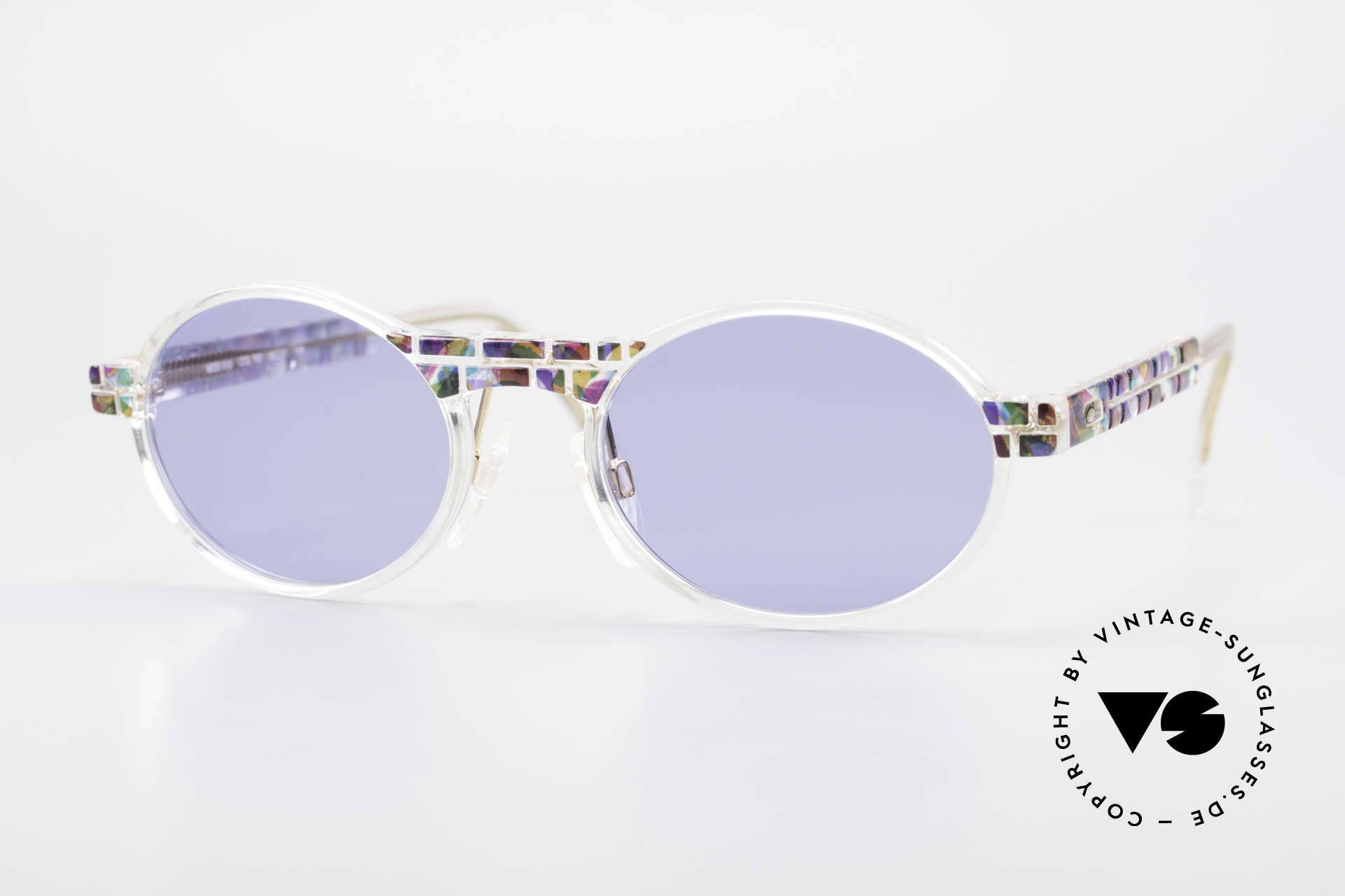 Cazal 510 Ovale Vintage Cazal Limited, seltene vintage Brille der Cazal Crystal 500er Serie, Passend für Herren und Damen
