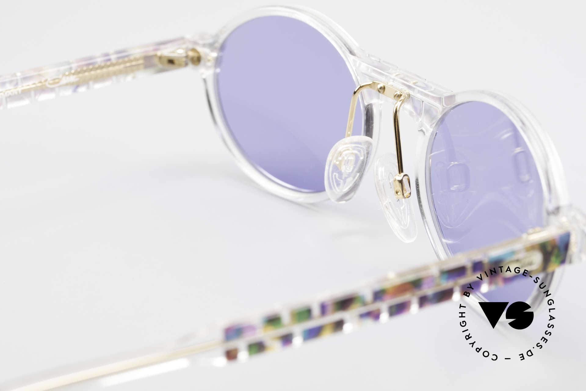 Cazal 510 Ovale Vintage Cazal Limited, dunkelblaue Sonnengläser für 100% UV Protection, Passend für Herren und Damen