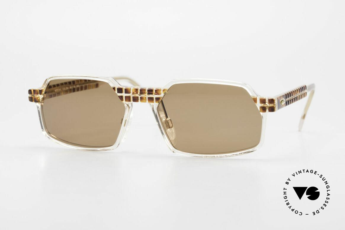 Cazal 511 Limited 90er Sonnenbrille Oval, seltene vintage Brille der Cazal Crystal 500er Serie, Passend für Herren und Damen