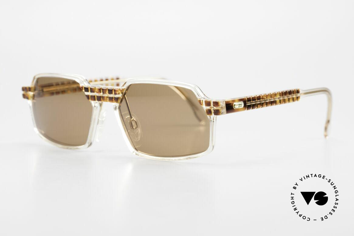 Cazal 511 Limited 90er Sonnenbrille Oval, limitierte Sonder-Edition mit kristallklarem Rahmen, Passend für Herren und Damen