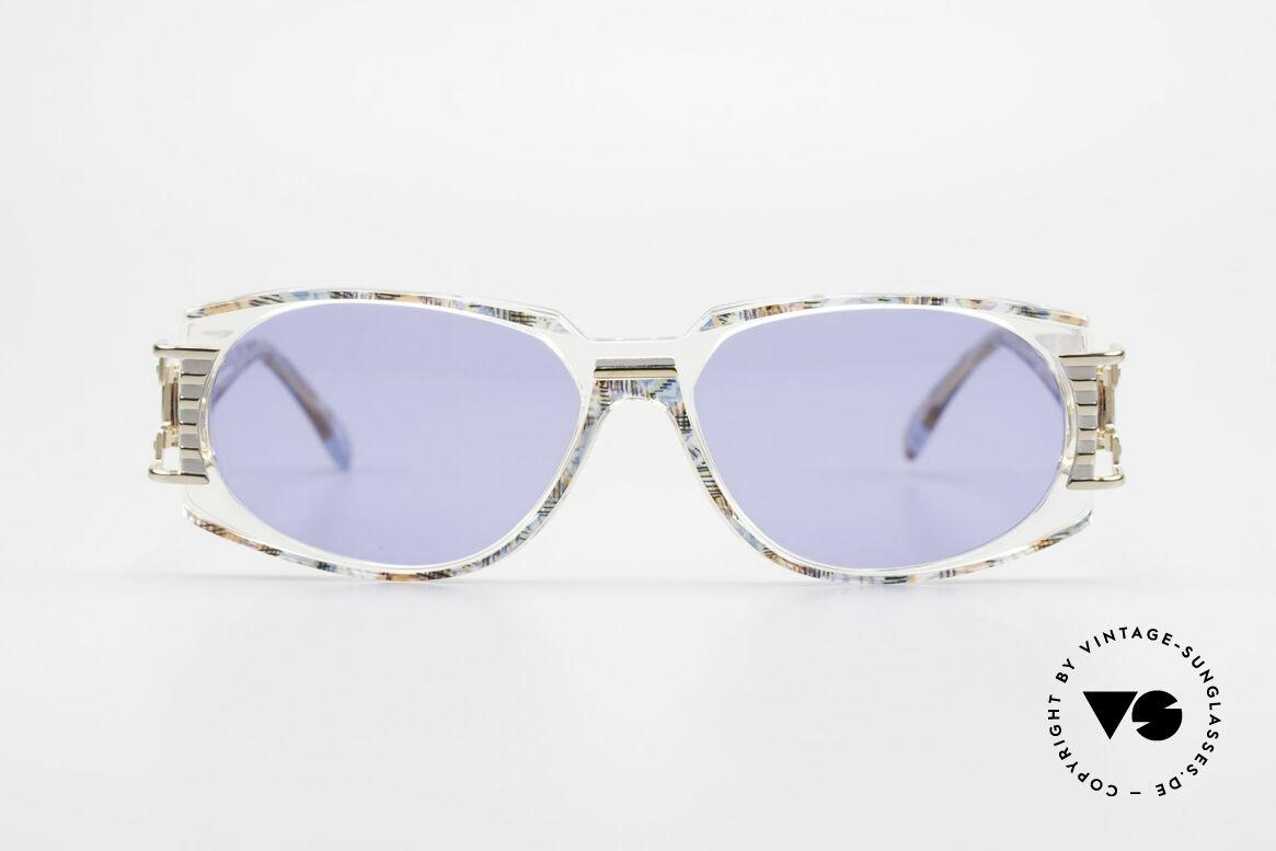 Cazal 372 Seltene HipHop Sonnenbrille, grandioses Farbkonzept: pistazie-multicolor / transparent, Passend für Herren und Damen