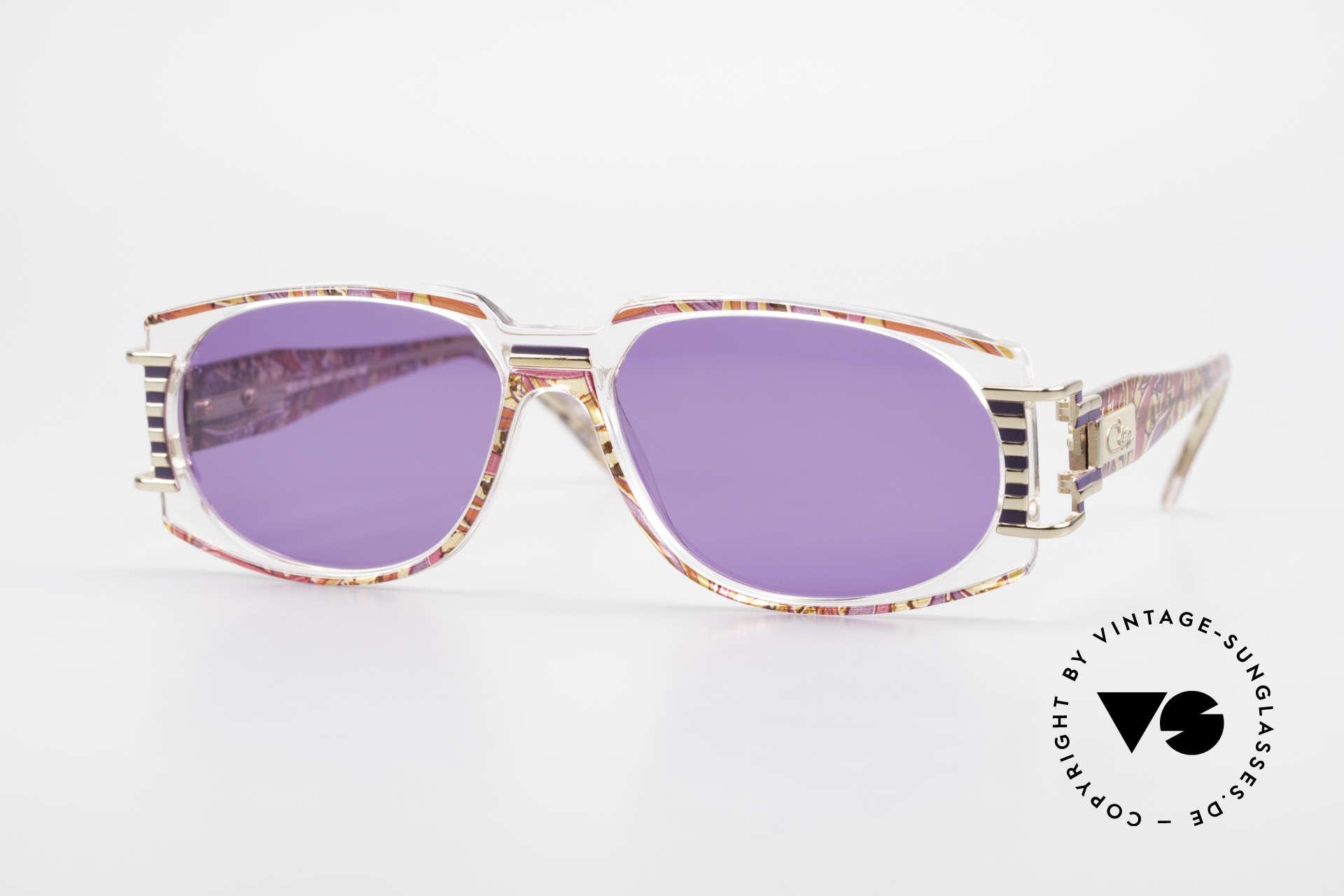 Cazal 372 Rare 90er HipHop Sonnenbrille, ultra seltenes Cazal vintage Modell aus den 90er Jahren, Passend für Herren und Damen