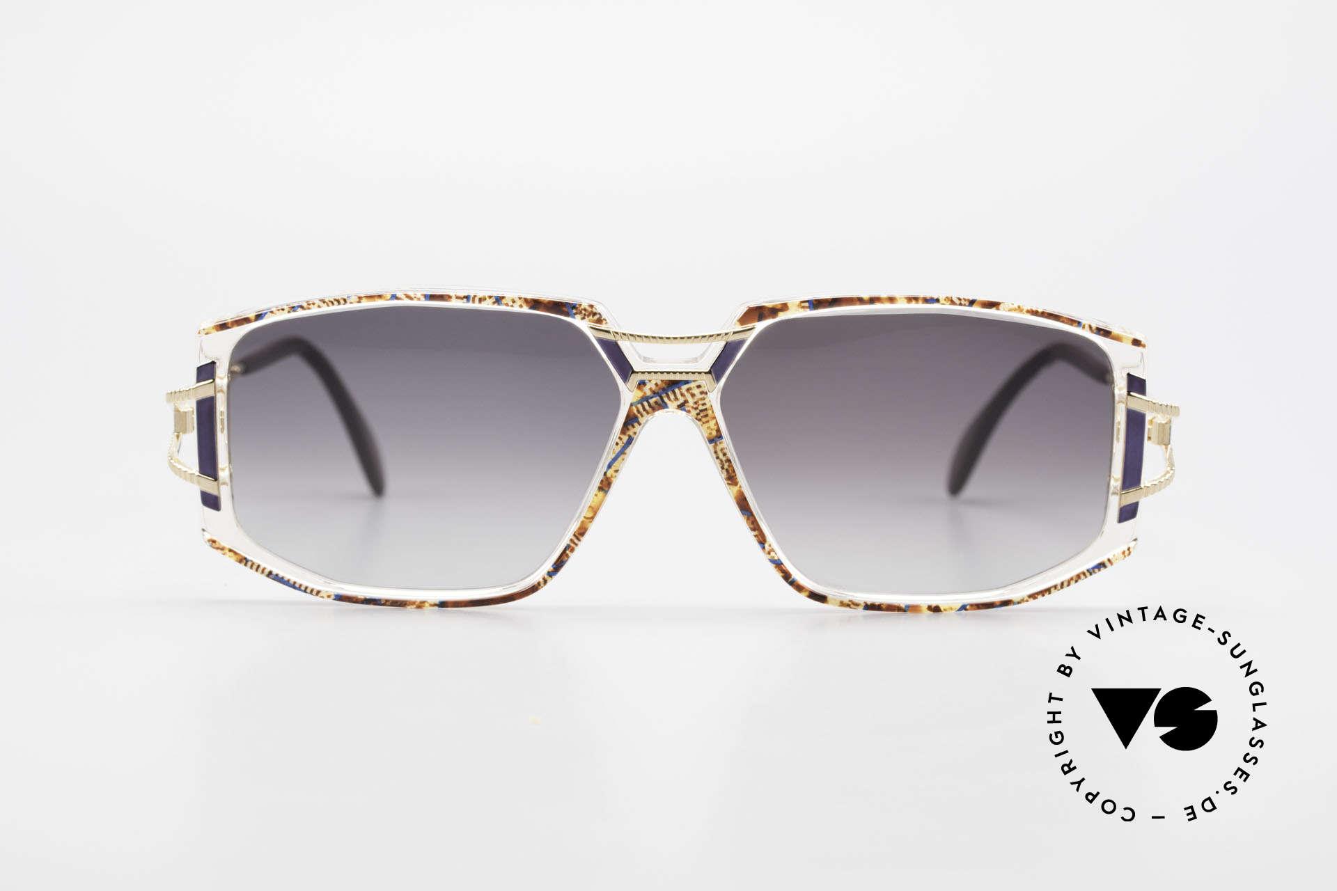 Cazal 362 Original 90er Sonnenbrille, tolle Gestaltung der Bügelgelenke & Rahmenfront, Passend für Damen