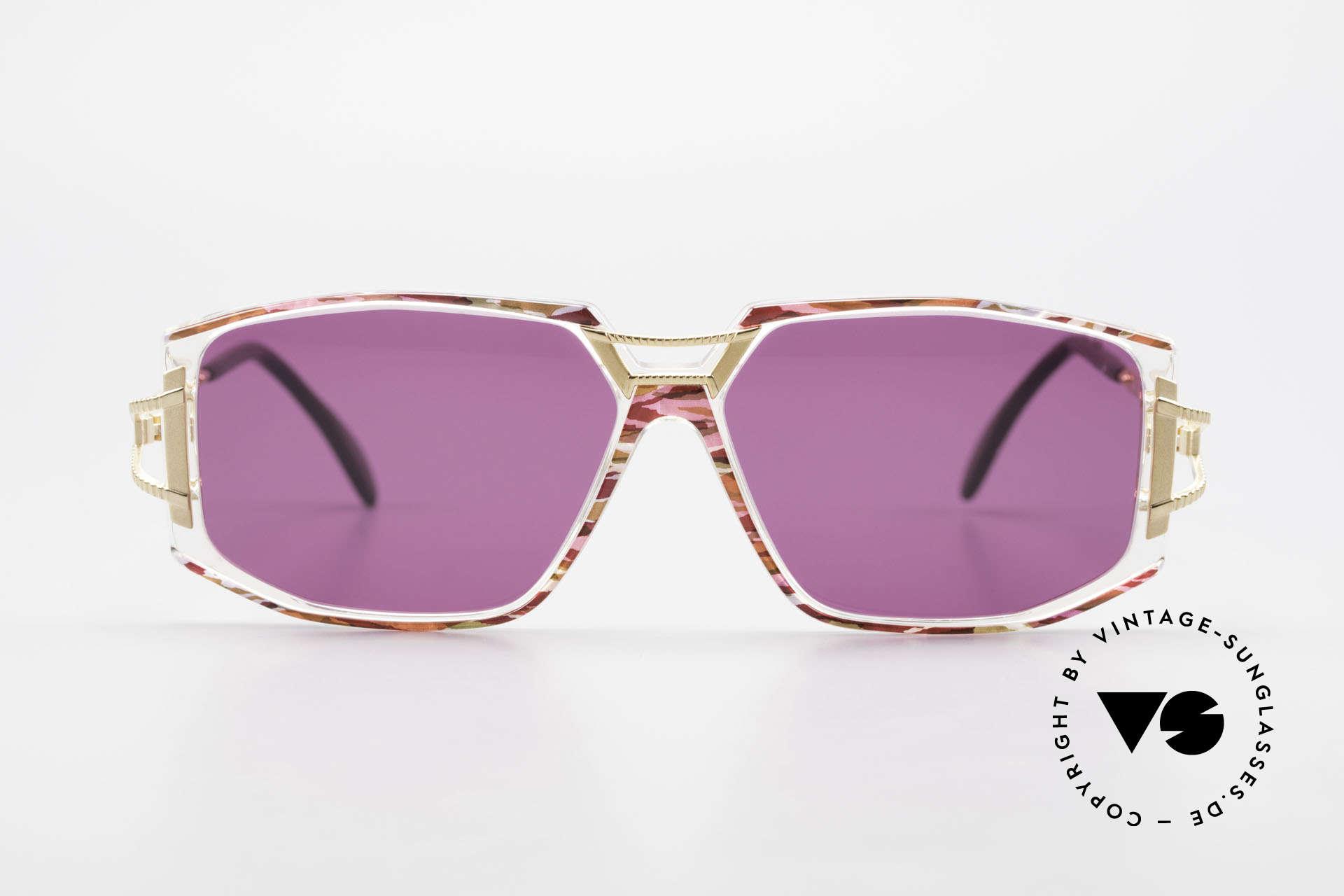 Cazal 362 90er Sonnenbrille Damen Cazal, tolle Gestaltung der Bügelgelenke & Rahmenfront, Passend für Damen