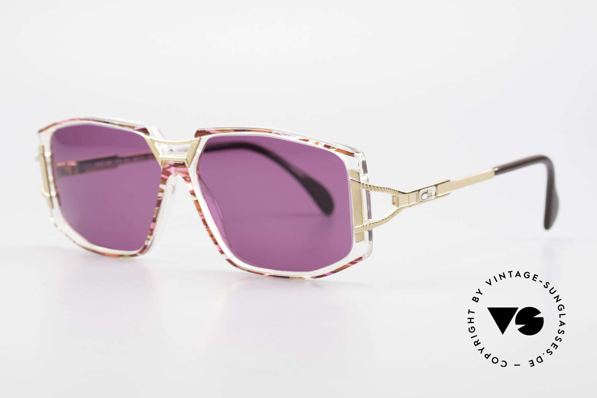 Cazal 362 90er Sonnenbrille Damen Cazal, zauberhafte Kombination aus Materialien & Farben, Passend für Damen