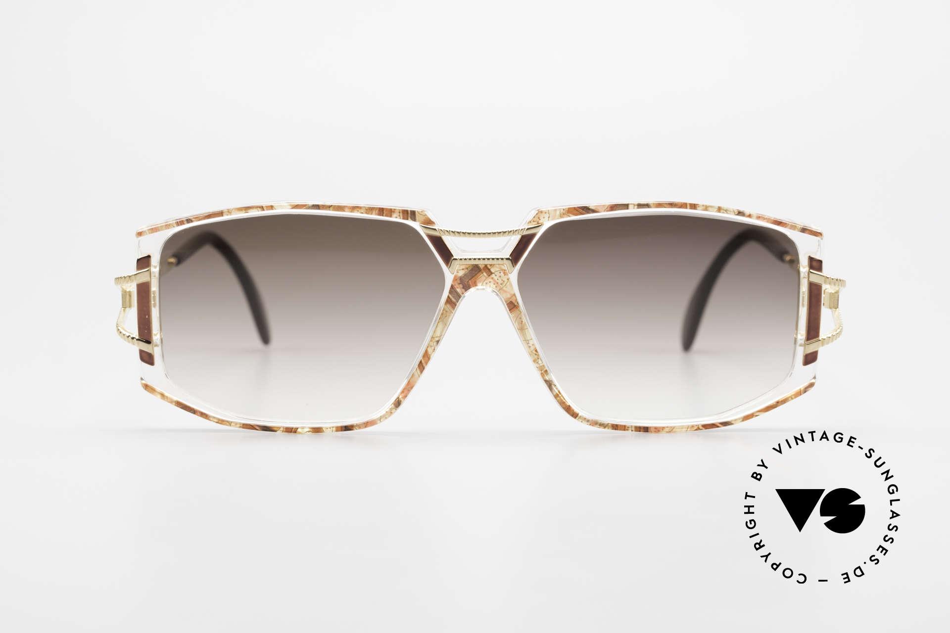 Cazal 362 90er Damen Sonnenbrille Cazal, tolle Gestaltung der Bügelgelenke & Rahmenfront, Passend für Damen