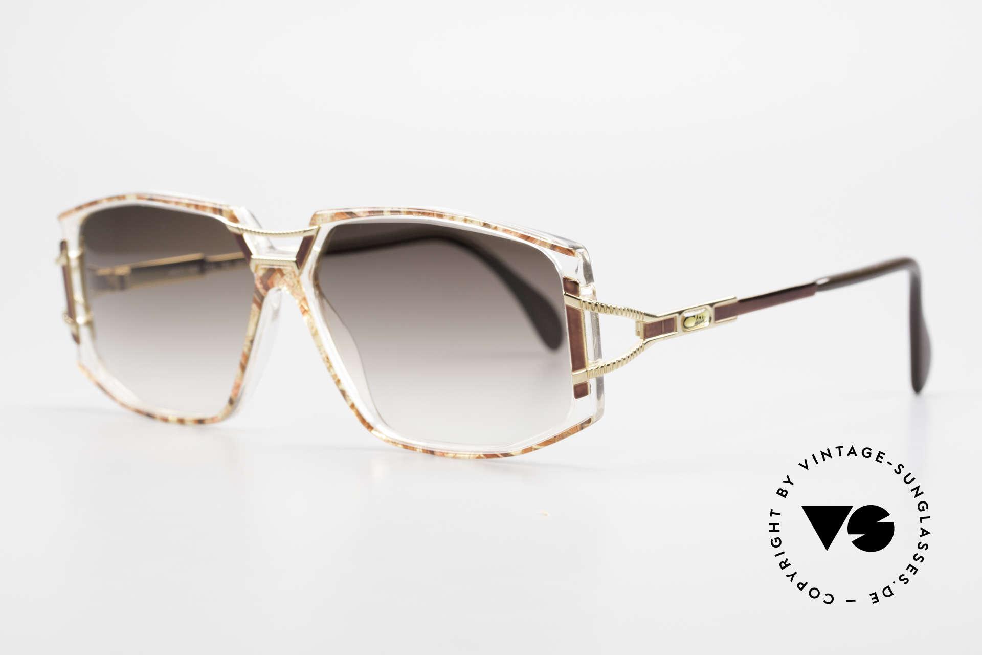 Cazal 362 90er Damen Sonnenbrille Cazal, zauberhafte Kombination aus Materialien & Farben, Passend für Damen