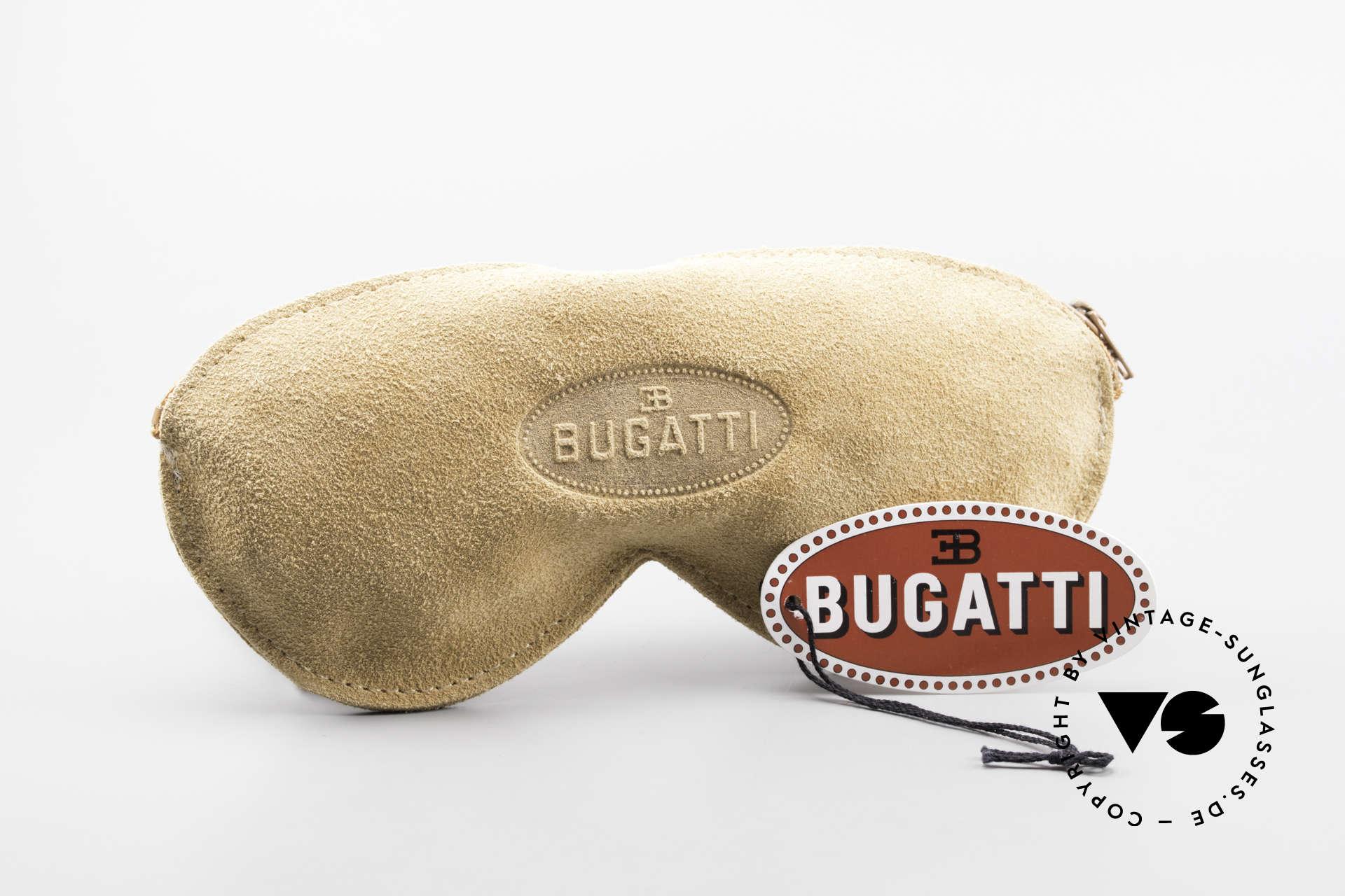 Bugatti 03308 80er Fassung mit Sonnen Clip, Größe: medium, Passend für Herren