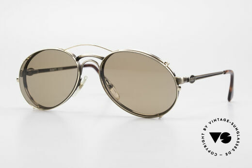 Bugatti 03323 80er Herrenbrille mit Clip On Details