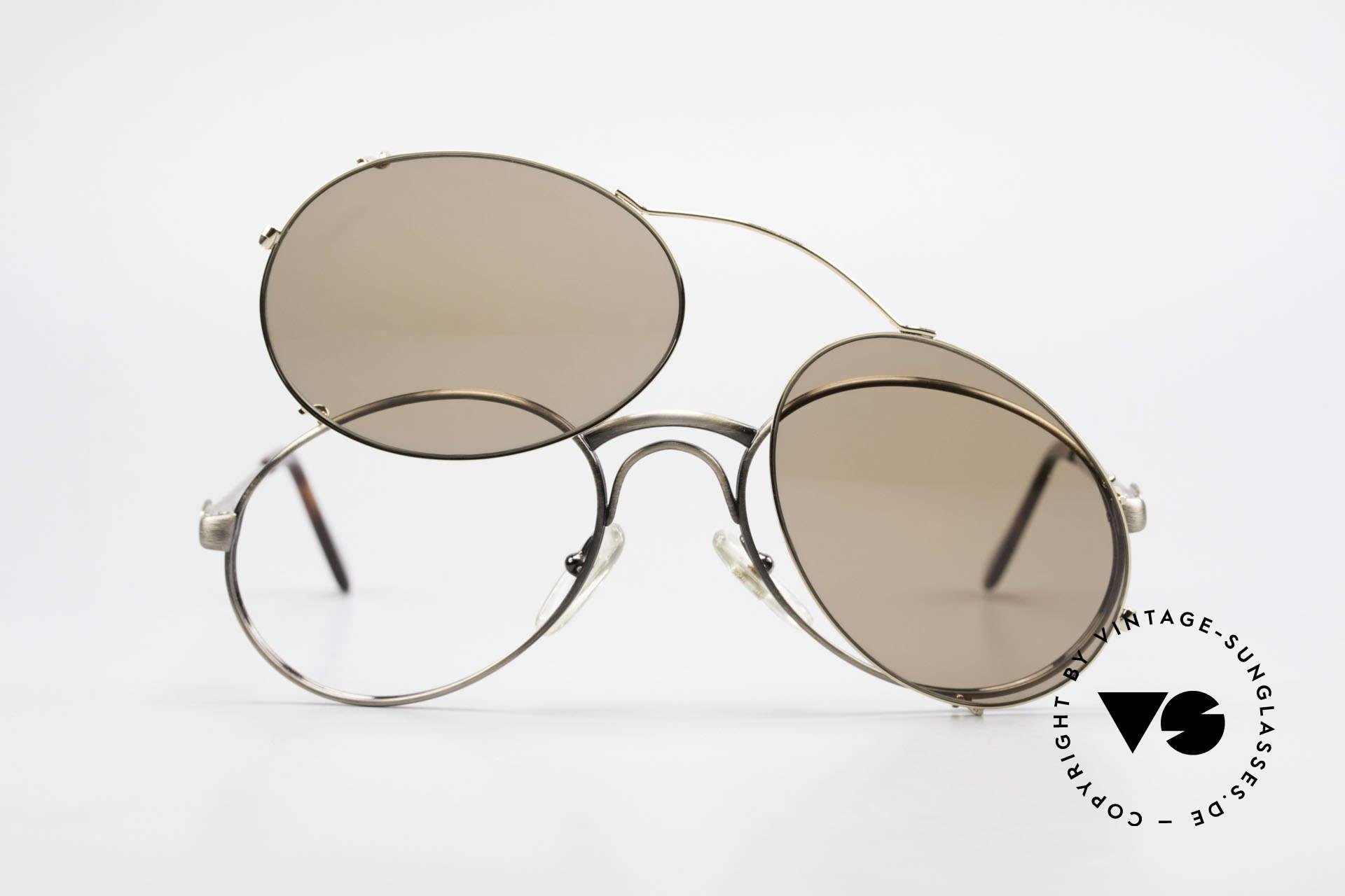 Bugatti 03323 80er Herrenbrille mit Clip On, KEINE RETROmode; sondern ein altes 80er ORIGINAL, Passend für Herren