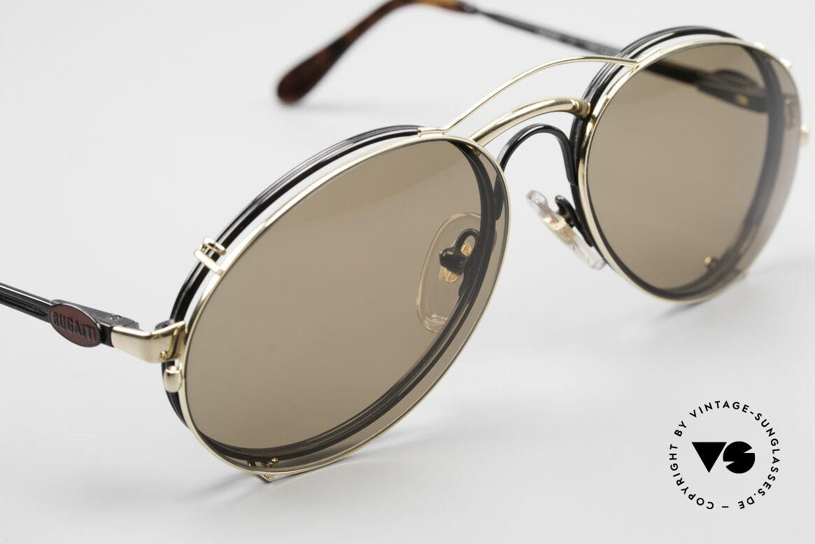 Bugatti 03326 80er Sonnenbrille Clip On Men, ungetragen (wie alle unsere vintage Bugatti Modelle), Passend für Herren