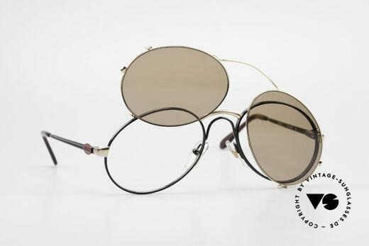 Bugatti 03326 80er Sonnenbrille Clip On Men, KEINE RETROmode; sondern ein altes 80er ORIGINAL, Passend für Herren
