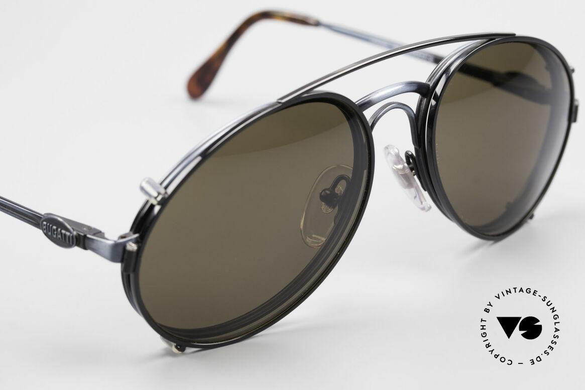 Bugatti 03328 Herrensonnenbrille Clip On, KEINE RETROmode; sondern ein altes 80er ORIGINAL, Passend für Herren