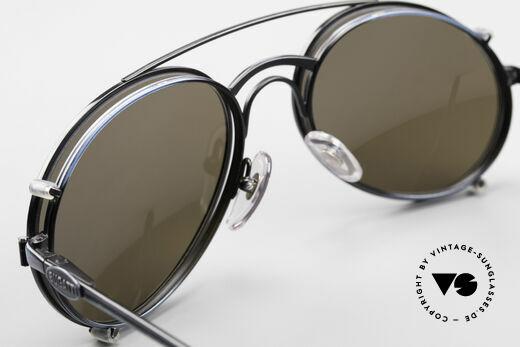 Bugatti 03328 Herrensonnenbrille Clip On, Rahmen hat 2 kleine Kratzer (Innenseite oberer Rand), Passend für Herren