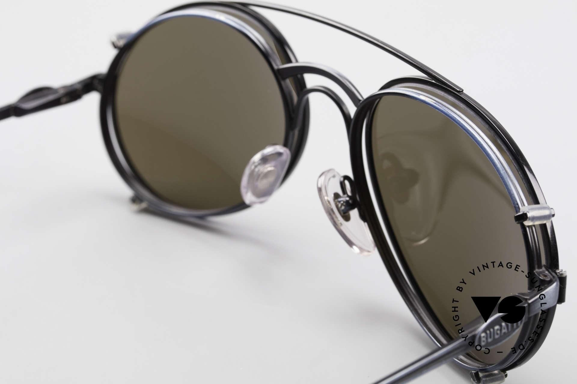 Bugatti 03328 Herrensonnenbrille Clip On, daher auf 349€ reduziert: Fotos d. Rückseite beachten!, Passend für Herren