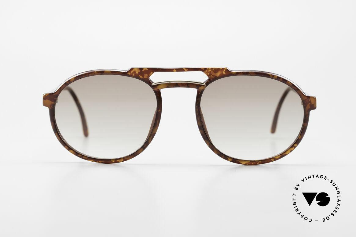 Dunhill 6114 Ovale Vintage Sonnenbrille, OPTYL-Rahmen in unnachahmlicher TOP-Qualität, Passend für Herren