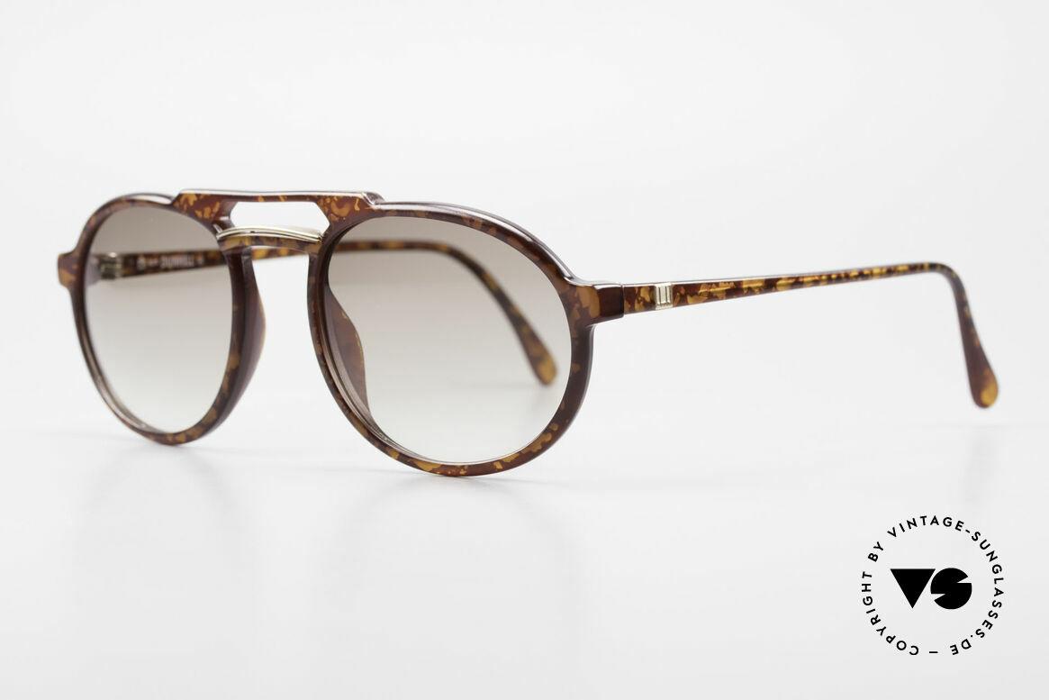 Dunhill 6114 Ovale Vintage Sonnenbrille, das leichte & robuste Optyl scheint nicht zu altern, Passend für Herren