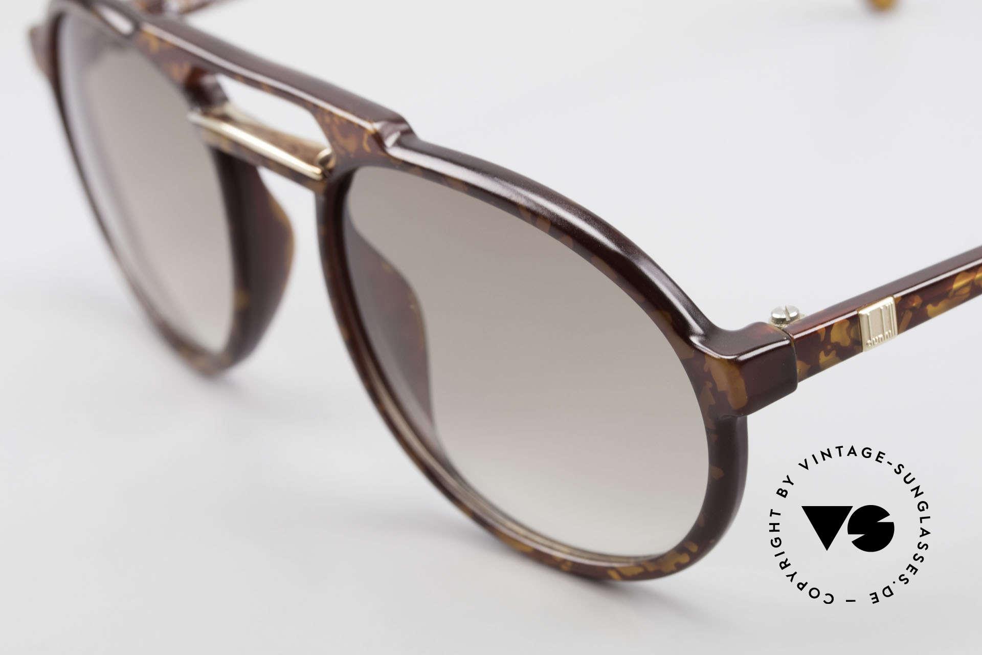 Dunhill 6114 Ovale Vintage Sonnenbrille, elegante Herrenbrille in einem dezenten Schildpatt, Passend für Herren
