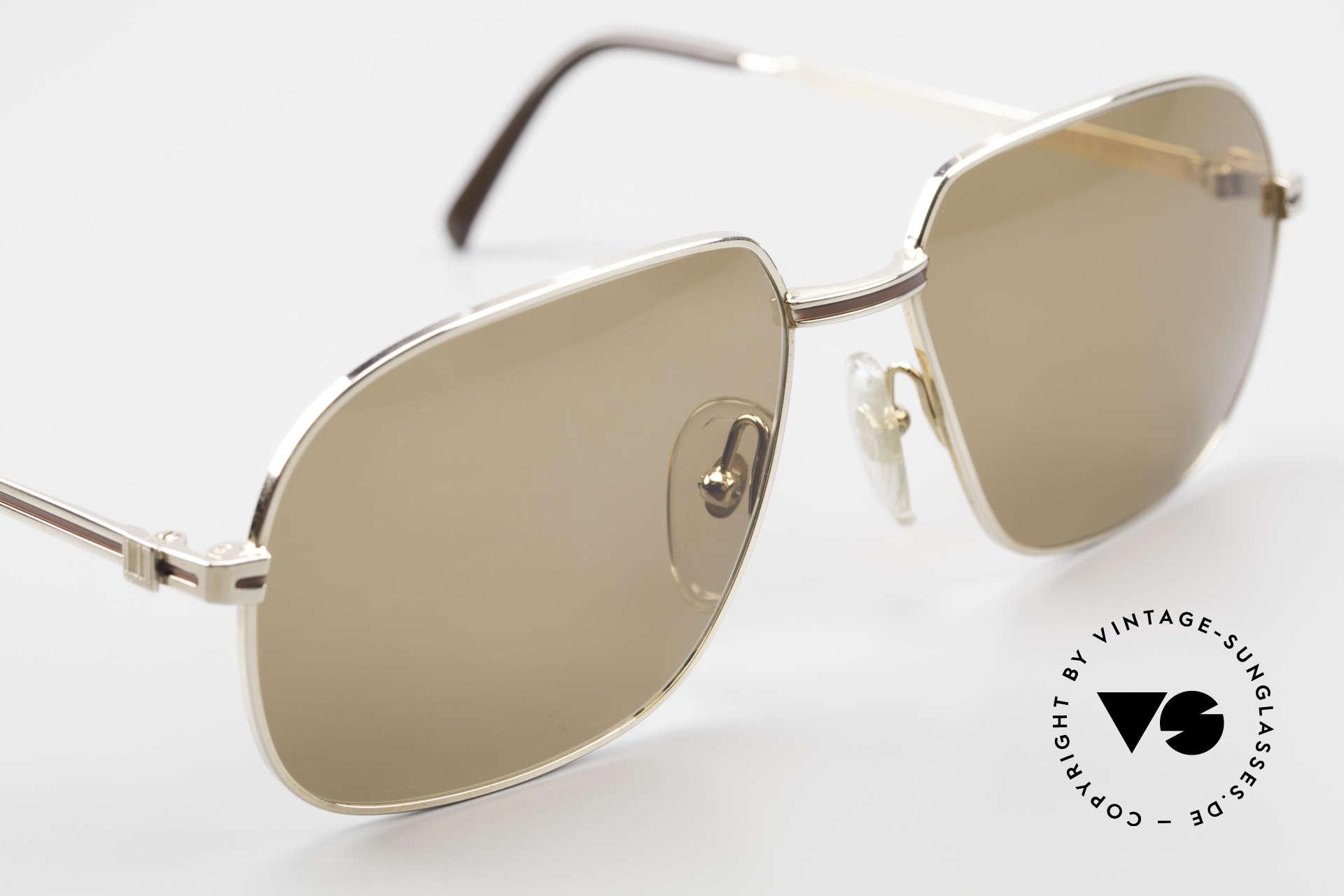 Dunhill 6123 Vergoldete Gentleman Brille, KEIN RETRO, sondern ein kostbares altes ORIGINAL!, Passend für Herren