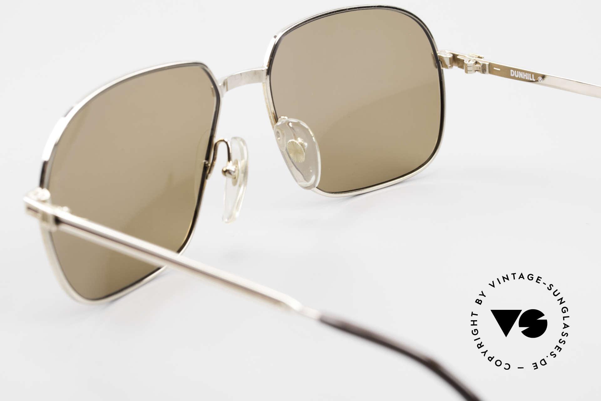 Dunhill 6123 Vergoldete Gentleman Brille, Sonnengläser können durch optische getauscht werden, Passend für Herren