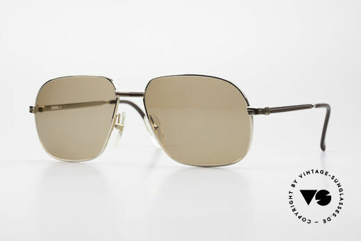 Dunhill 6123 Vergoldete Gentleman Brille Details
