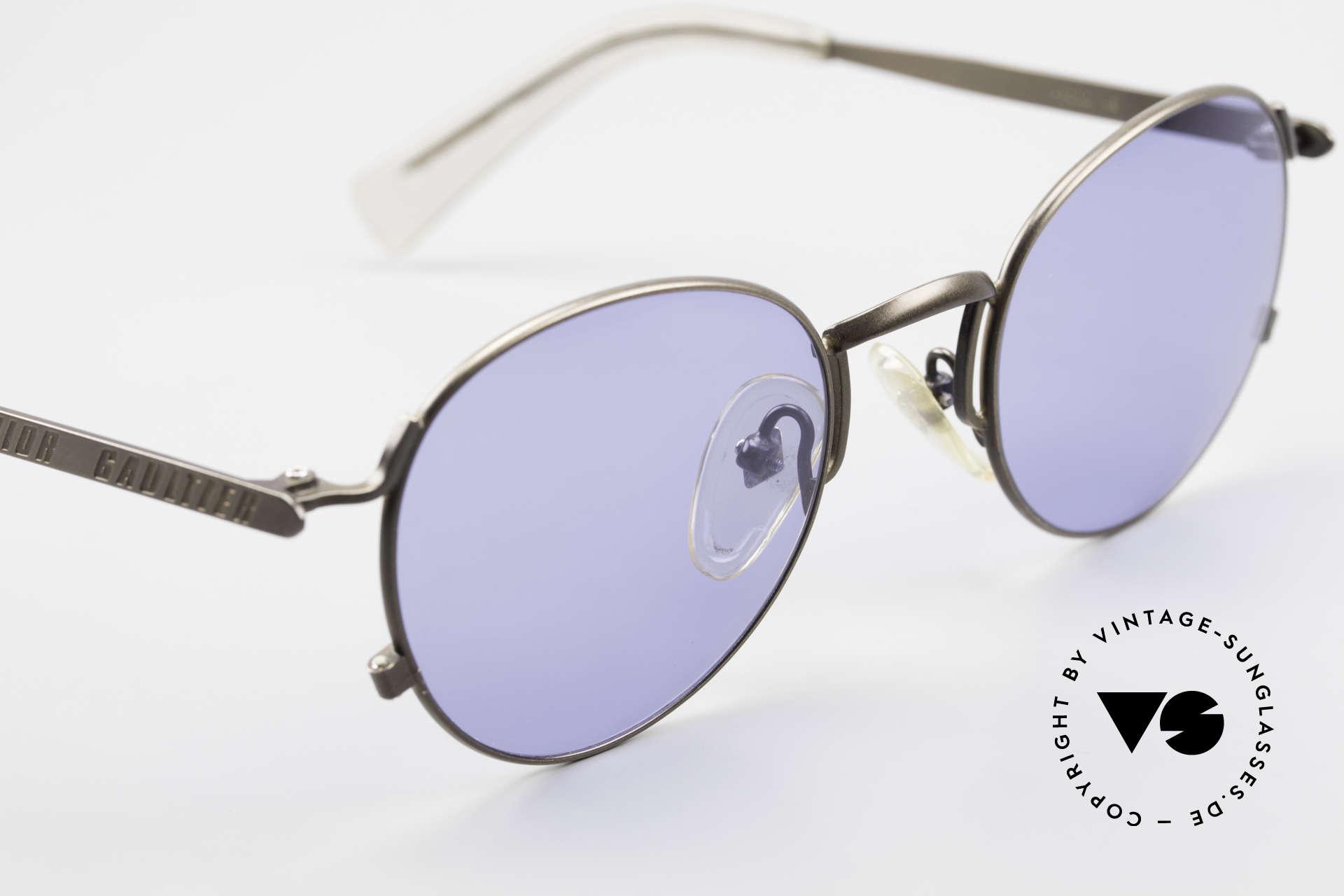 Jean Paul Gaultier 57-1171 90er Designer Sonnenbrille, KEINE Retrosonnenbrille; kostbares Original von 1995!!, Passend für Herren und Damen