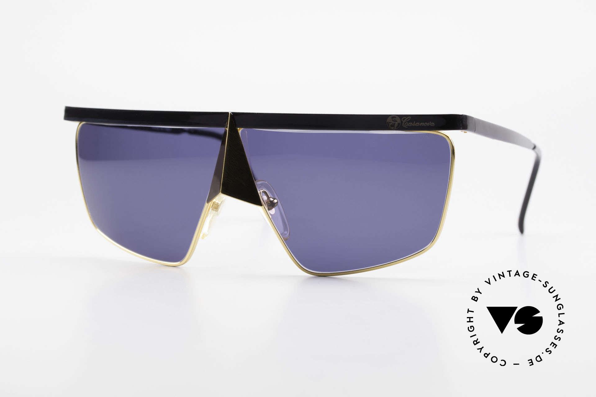 Casanova FC10 24kt Nasenbrille Sonnenbrille, interessante Casanova NasenBrille von circa 1985, Passend für Herren und Damen