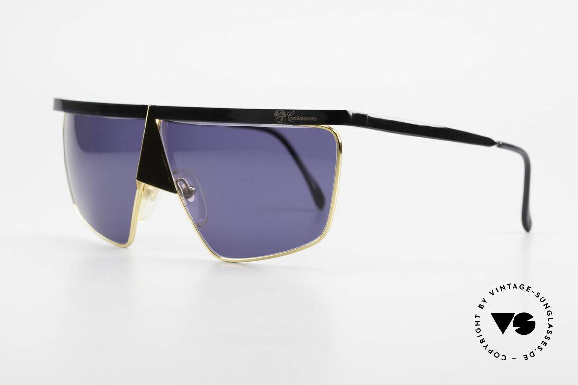 Casanova FC10 24kt Nasenbrille Sonnenbrille, verkörpert die Ausgelassenheit d. venez. Karnevals, Passend für Herren und Damen