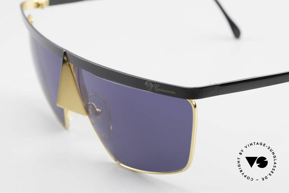 Casanova FC10 24kt Nasenbrille Sonnenbrille, das Rahmendesign ist ähnlich der Karnevalsmasken, Passend für Herren und Damen