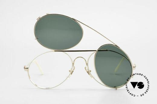 Bugatti 65987 Vergoldete Fassung Mit Clip, KEINE Retrosonnenbrille; ein Original von 1986, Passend für Herren