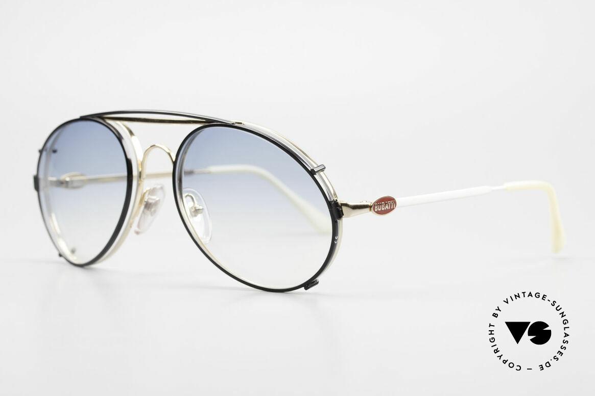 Bugatti 65987 Vintage Brille Mit Sonnenclip, VINTAGE Gestell mit praktischem Sonnen-Clip, Passend für Herren