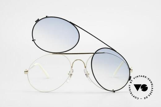 Bugatti 65987 Vintage Brille Mit Sonnenclip, ungetragen (wie alle unsere Bugatti Fassungen), Passend für Herren