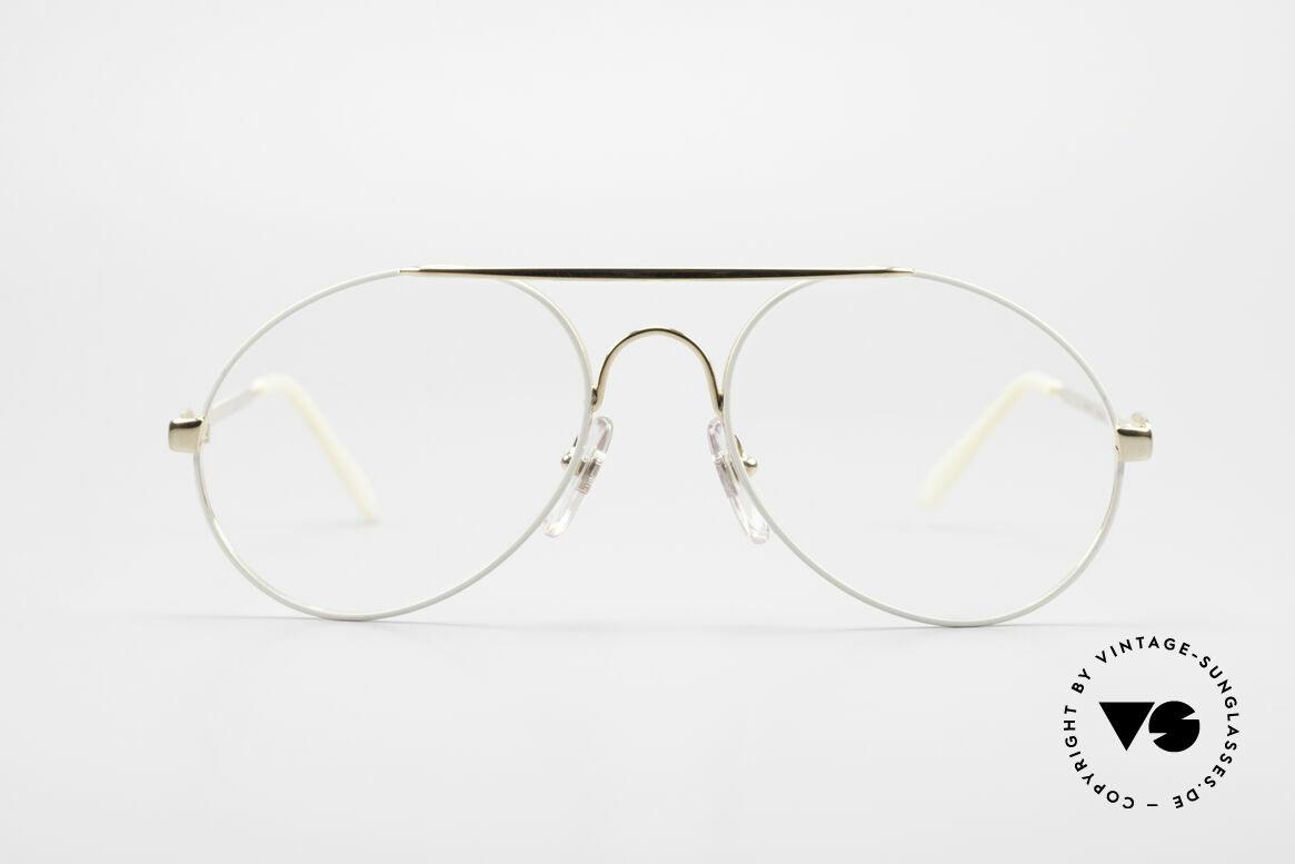 Bugatti 65987 Vintage Brille Mit Sonnenclip, KEINE Retrosonnenbrille; ein Original von 1986, Passend für Herren