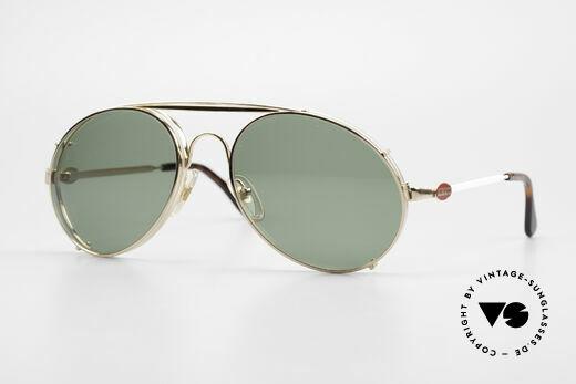 Bugatti 65987 80er Vintage Brille Mit Clip On Details
