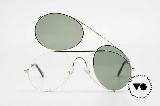 Bugatti 65987 80er Vintage Brille Mit Clip On, ungetragen (wie alle unsere Bugatti Fassungen), Passend für Herren