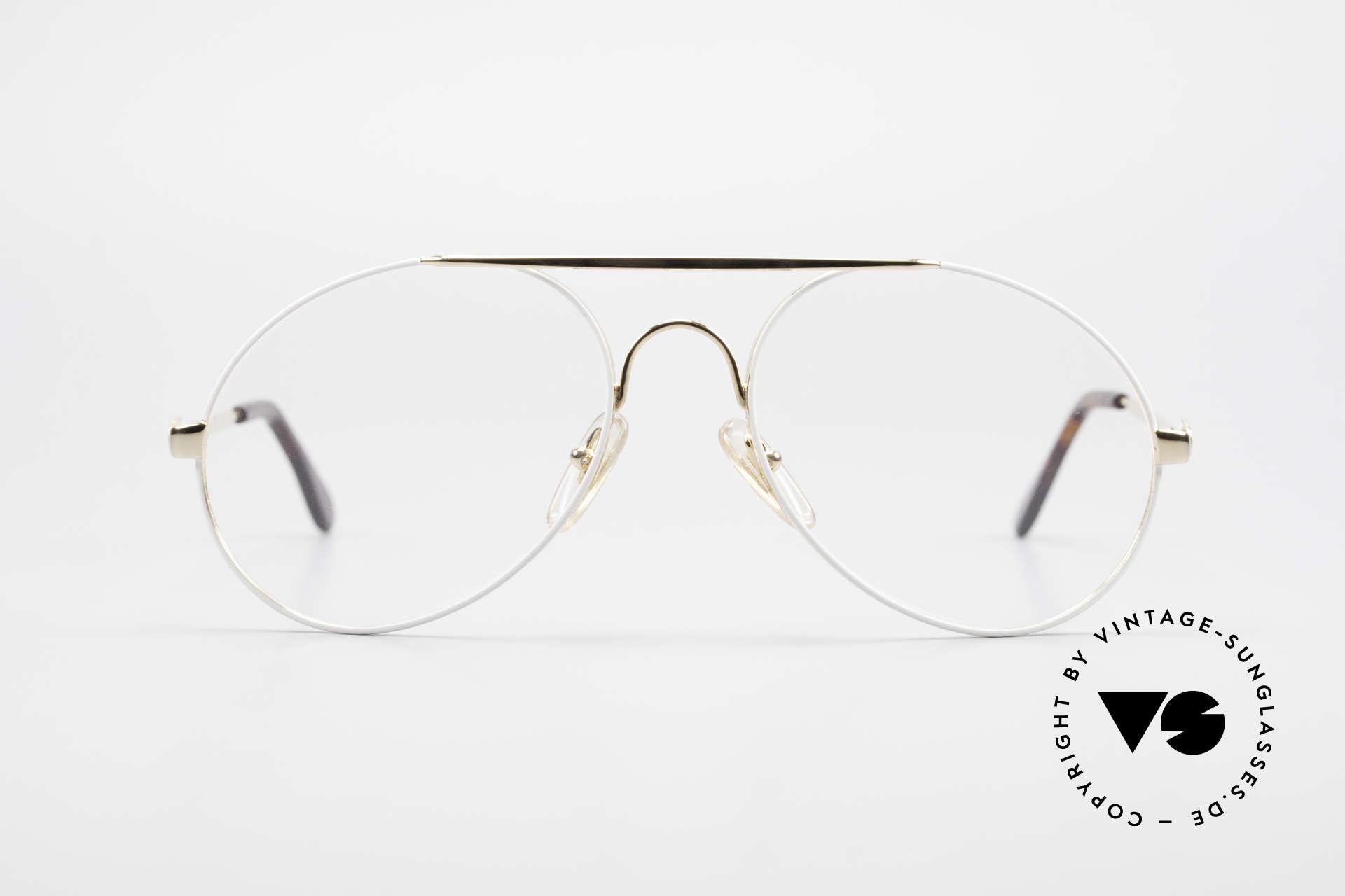 Bugatti 65987 80er Vintage Brille Mit Clip On, KEINE Retrosonnenbrille; ein Original von 1986, Passend für Herren