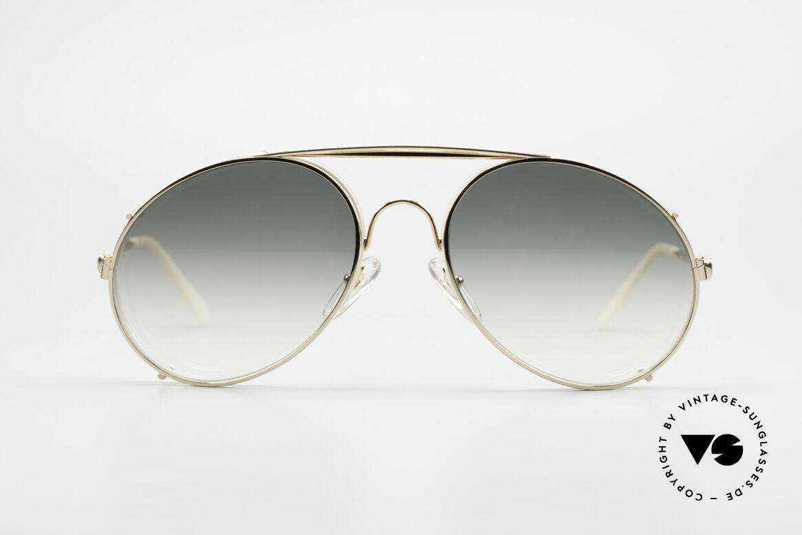 Bugatti 65987 XL Vintage Brille Mit Clip On, in typischer / legendärer Bugatti-Tropfenform, Passend für Herren