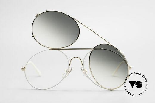 Bugatti 65987 XL Vintage Brille Mit Clip On, ungetragen (wie alle unsere Bugatti Fassungen), Passend für Herren